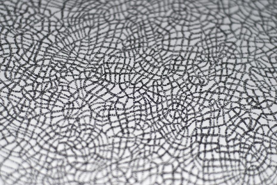 En cours - Sans-titre (2015) détail Encre rotring sur papier velin 200g, 60 x 80 cm, 1/1